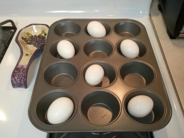 Oven Baked Hard Boiled Eggs