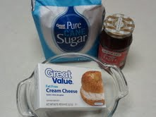 Ingredients for Stuffed French Toast filling